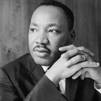 A photo of Martin Luther King, Jr. whose work in discussed in this article