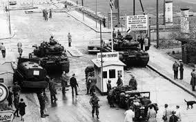 US and Sovient tanks, 'Checkpoint Charlie', Berlin