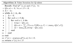 Explain Value iteration using a Q function instead of a value function