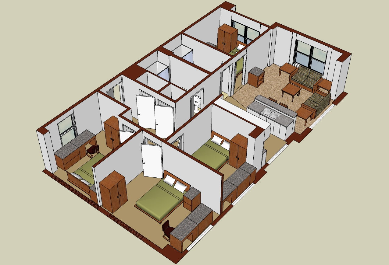 George Street 4 Bedroom Isometric Part 36