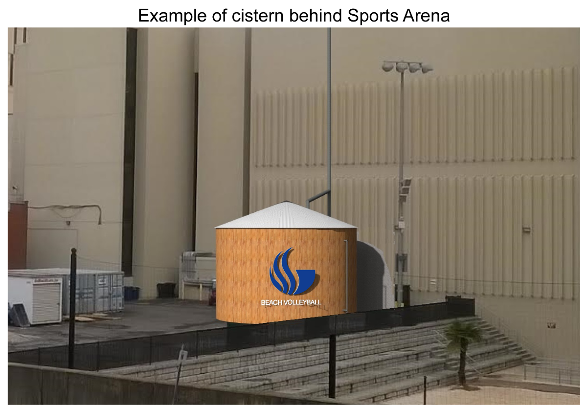 Cistern behind Sports Arena