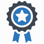Blue Ribbon Icon