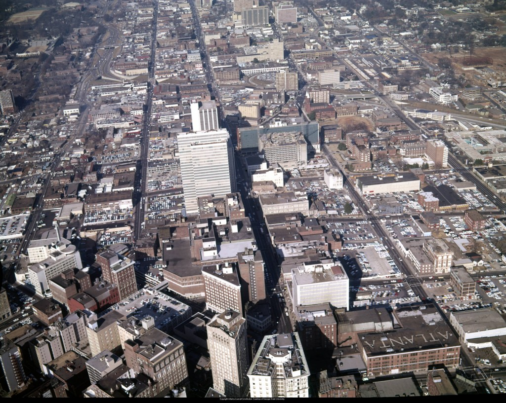 Aerial_view_of_downtown_looking_north_showing_large_areas_covered_in_parking_lots_Atlanta_Georgia_December_21_1965