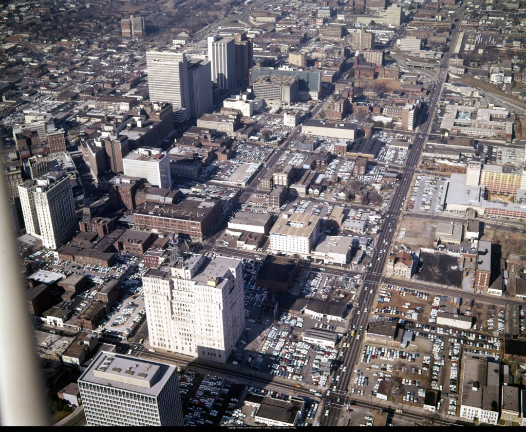 Aerial_view_of_downtown_looking_northwest_showing_large_areas_covered_in_parking_lots_Atlanta_Georgia_December_21_1965
