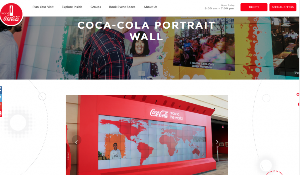 coca cola portrait wall