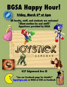 BGSA Happy Hour at Joystick