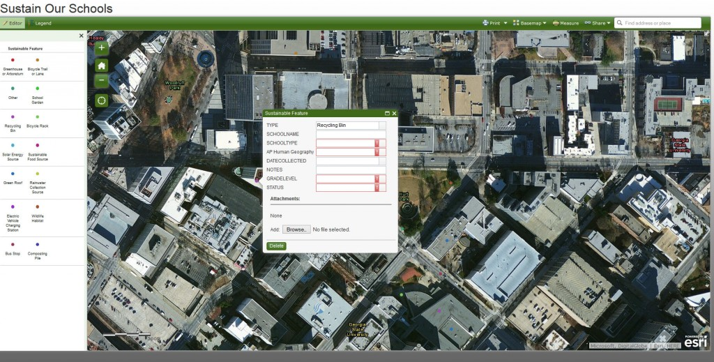An online mapping project focused on understanding sustainability and green infrastructure.
