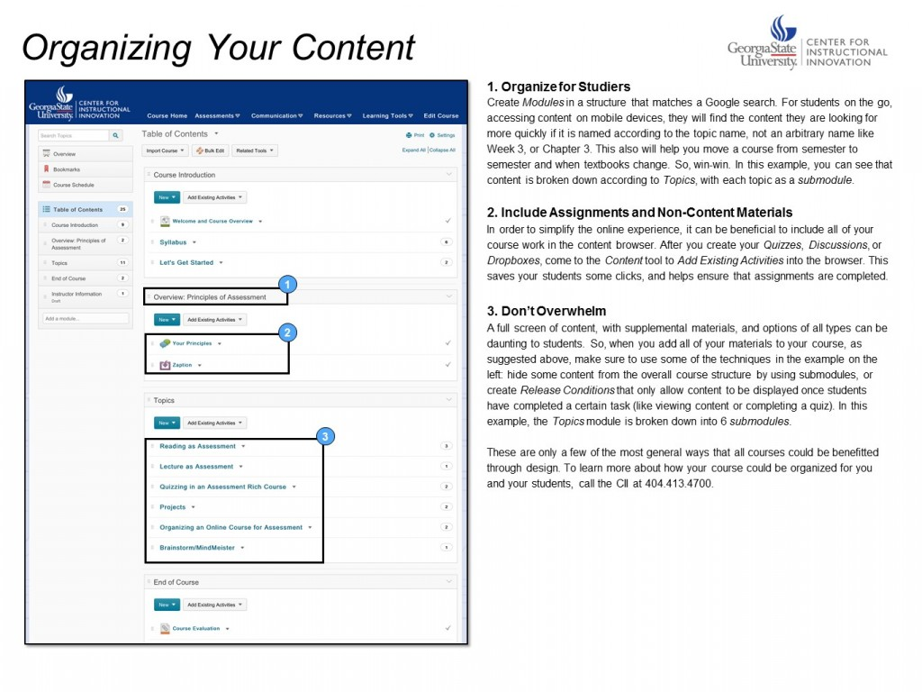 Organizing your content