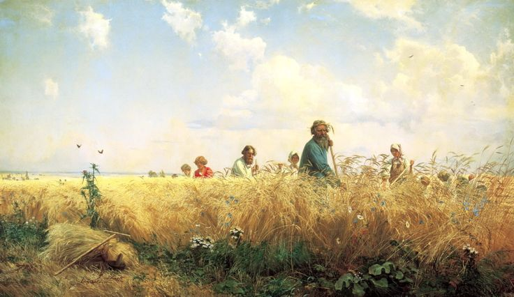 Grigoriy Myasoyedov: Busy Time for the Mowers (1887)