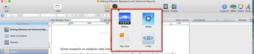 Figure 5. Widget in iBook Author