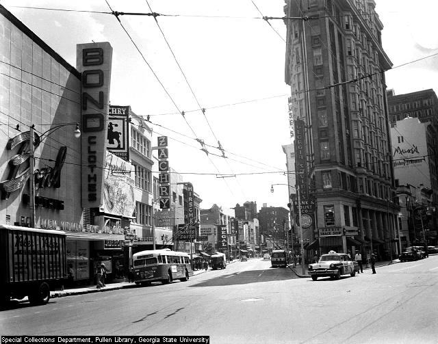 Flatiron Building, Atlanta GSU FILE: LBCB017-066a, Atlanta Time Machine. (1956).