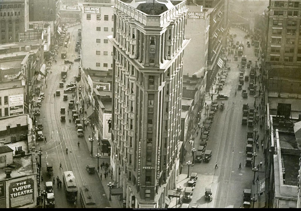 Flatiron Building, Atlanta Journal-Constitution, courtesy of Georgia State University, File AJCP552-044b. (1920).