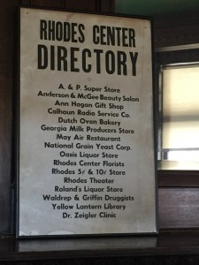 Directory of stores in Rhodes Center