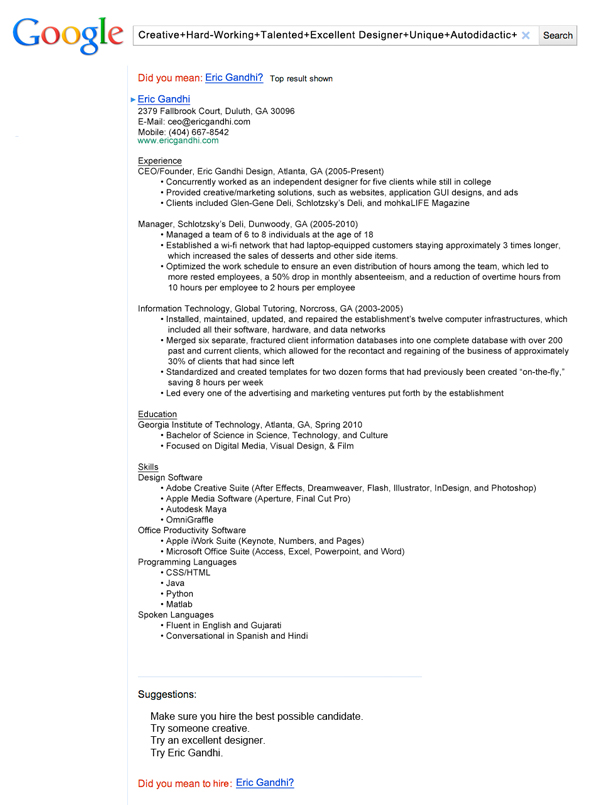 beyond the resume technical communication fall 2014 page 2