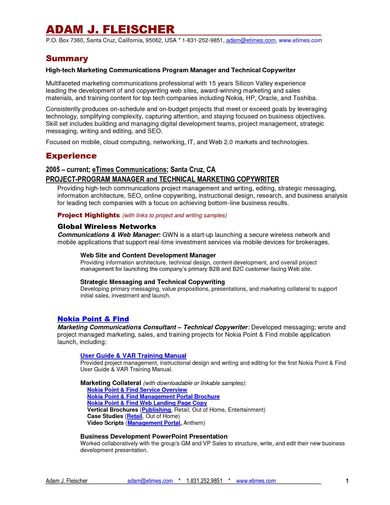 beyond the resume technical communication fall page  traditional resume