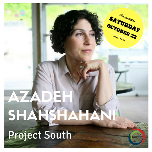 "Azadeh is presenting under the CTAUN theme ""Policy and Action: Immigrants and Refugees."" For more information about her presentation, take a look at the program above. To see more about Azadeh click the photo."