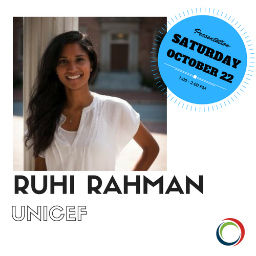 "Ruhi is presenting under the CTAUN theme ""Education and Action: Immigrants and Refugees."" For more information about her presentation, take a look at the program above. To see more about Ruhi click the photo."