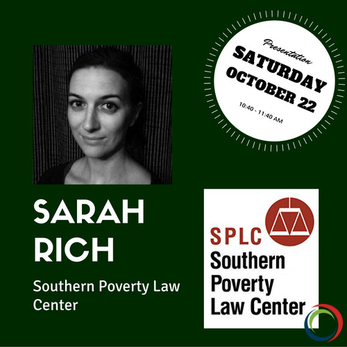 "Sarah is presenting under the CTAUN theme ""Policy and Action: Immigrants and Refugees."" For more information about his presentation, take a look at the program above. To see more about Sarah click the photo."