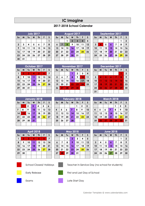 2017-2018 School Calendar Approved – IC Imagine: A Public ...