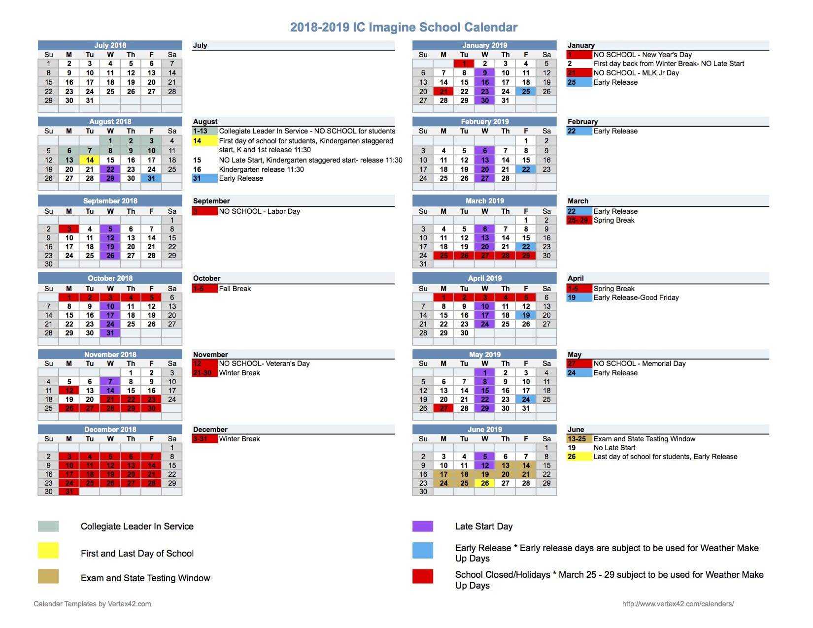 18.19 School Calendar Updated 92018