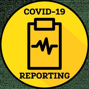 click to report COVID symptoms/cases