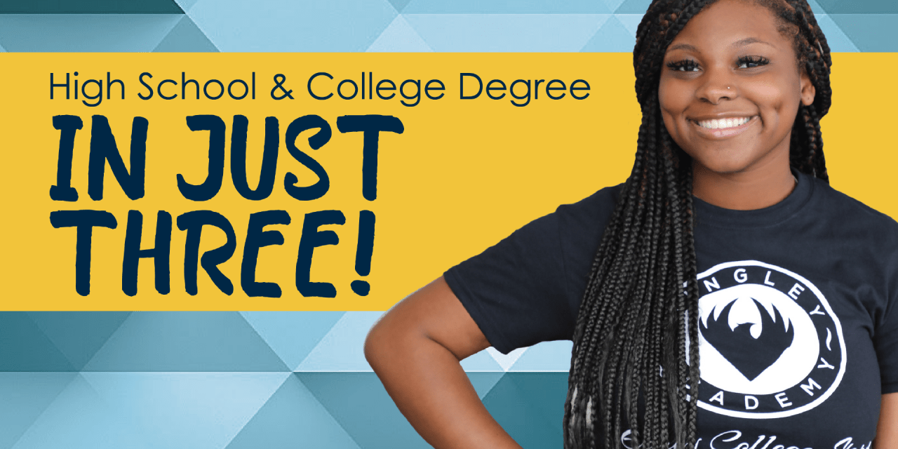 High School and College Degree In Just Three!