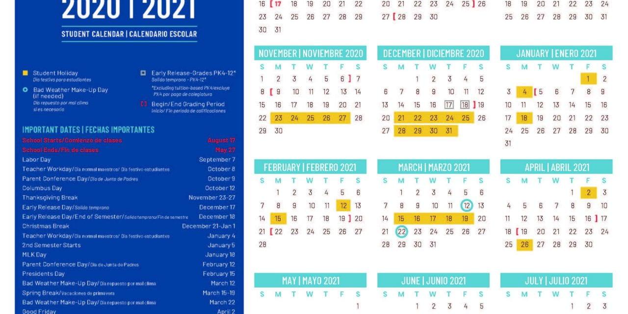 Ya Están Disponibles Los Calendarios 2020-2021