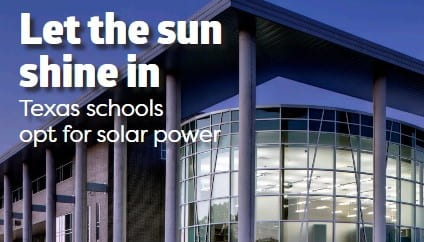 Texas School Business Magazine: Let the Sun Shine In