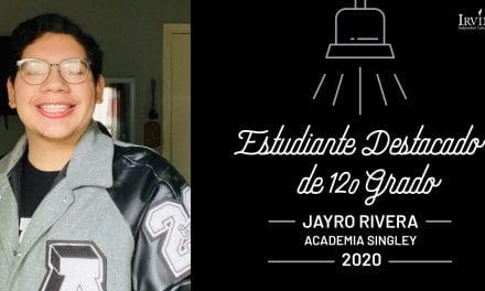 Estudiantes destacados de 12o grado: Jayro Rivera – Academia Singley