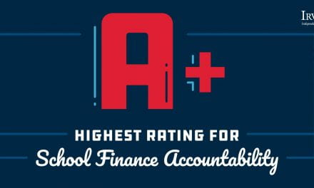 Irving Receives A+ on State Finance Report