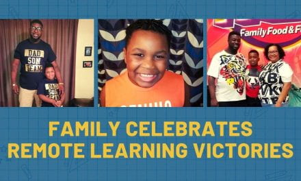 Irving ISD Family Celebrates Remote Learning Victories