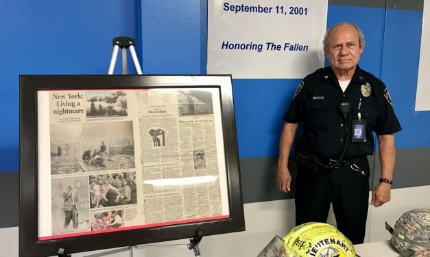 Crockett Middle School Hero Honors 9/11 with Tribute
