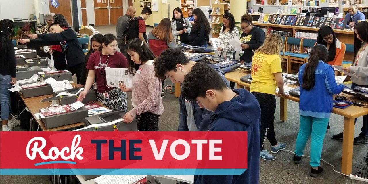 Irving High Students Serve as Election Clerks