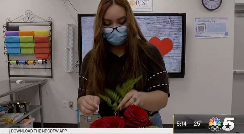 NBC 5: Students Studying Floral Business Enjoy Holiday Rush