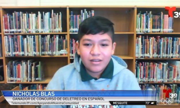 Telemundo: Alumno de Irving ISD gana concurso de deletreo