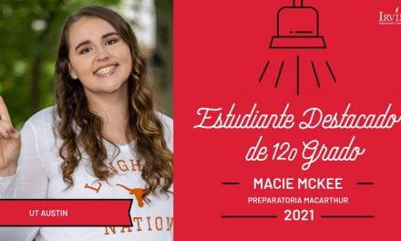 Estudiante Destacada de 12.o grado: Macie McKee, Preparatoria MacArthur