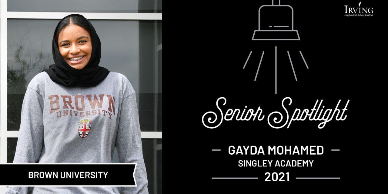 Senior Spotlight: Gayda Mohamed, Singley Academy