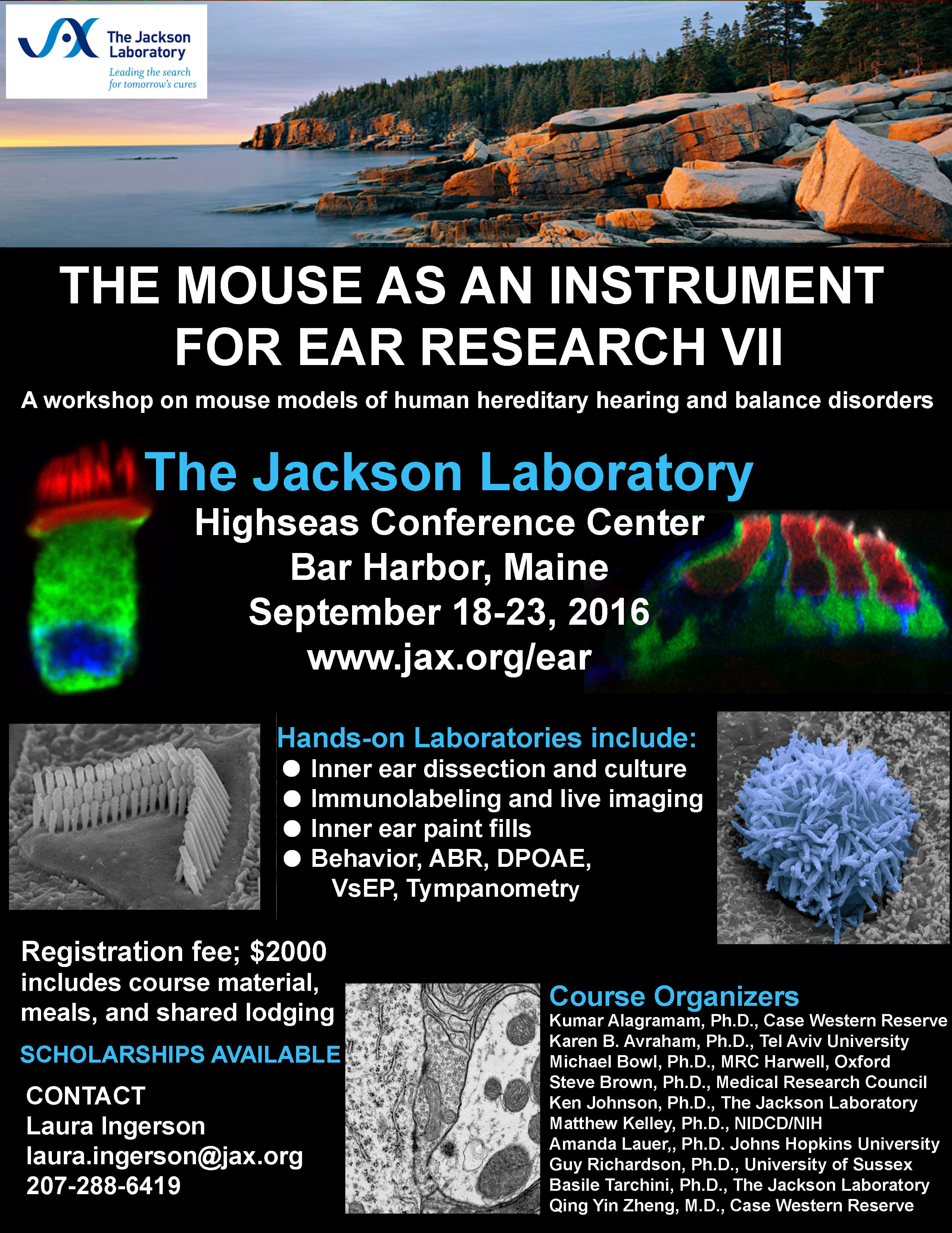 The Mouse as an Instrument for Ear Research VII - The Jackson Laboratory Workshop