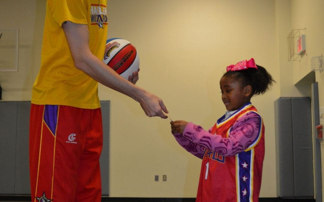 Harlem Wizards Visit Herty Primary