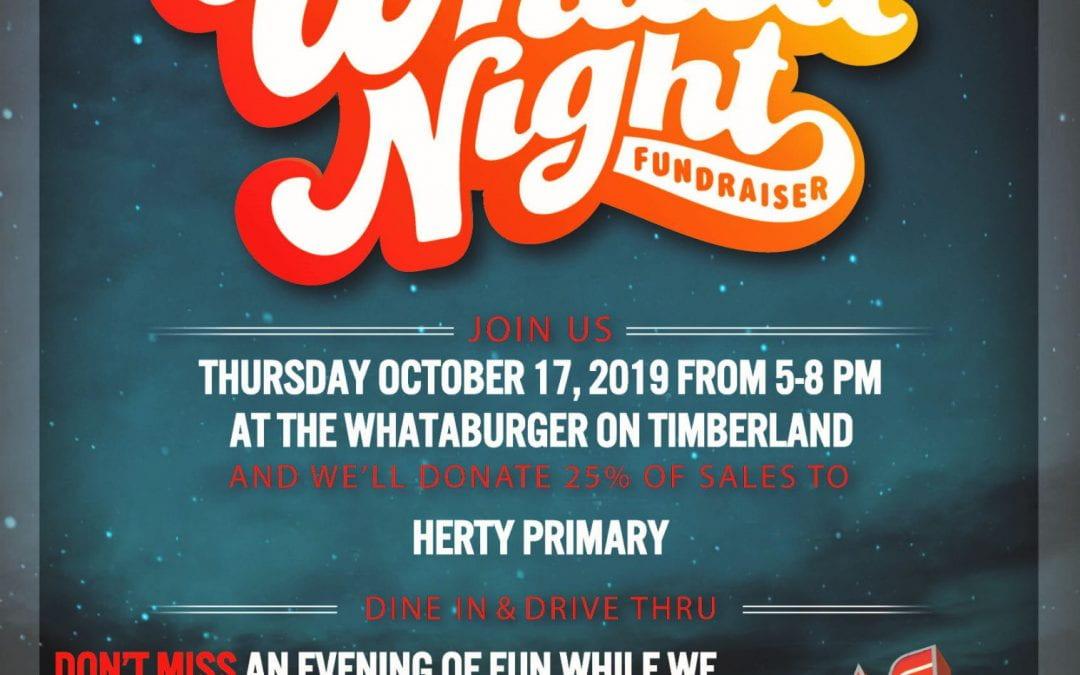 Whataburger Fundraiser