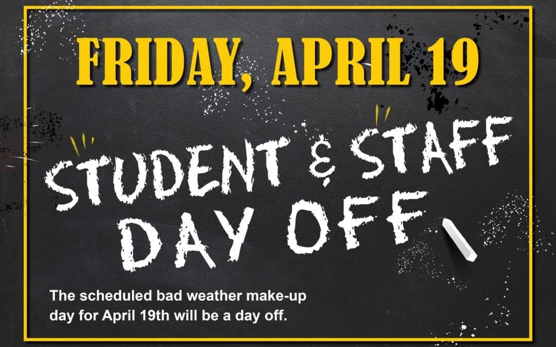 No School April 19th