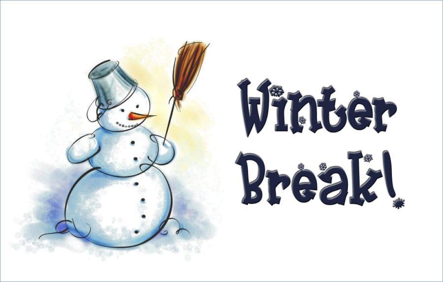 Winter break- Dec. 19th- Jan. 8th