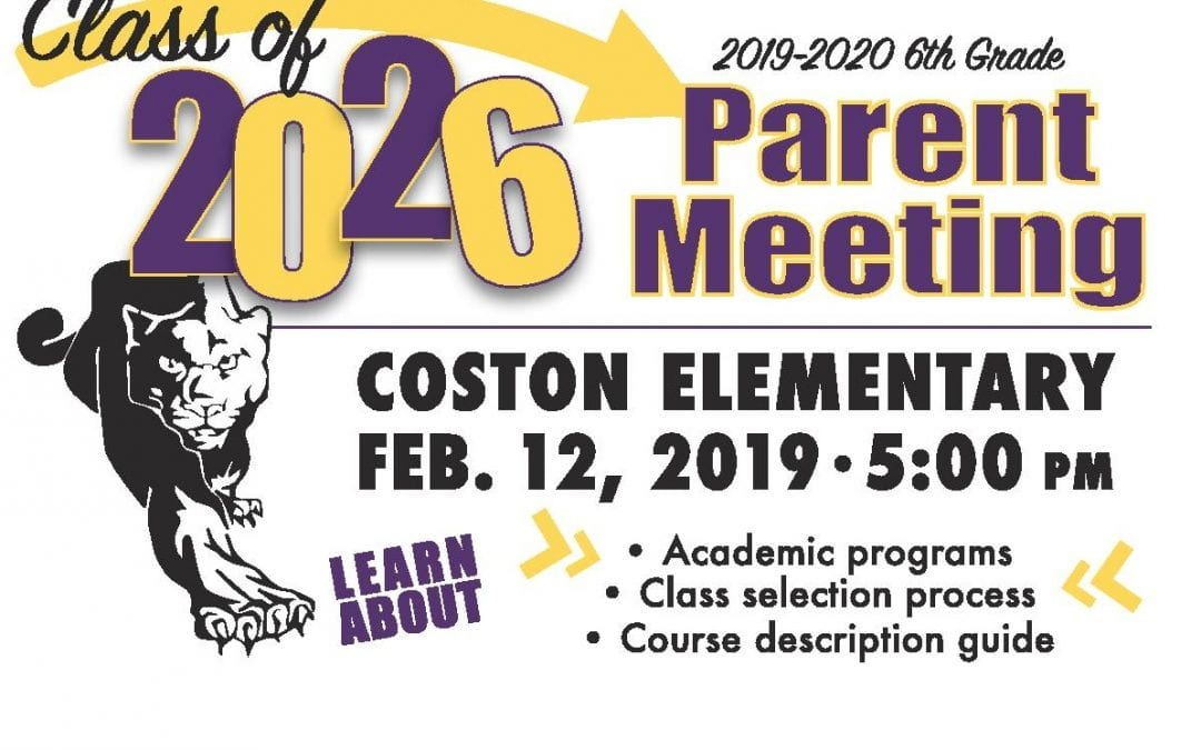 Attention all fifth grade parents!