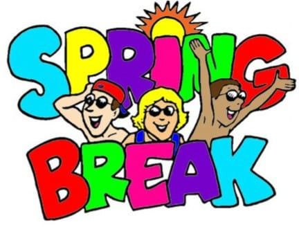 Spring Break- March 11th-15th and early release March 8th