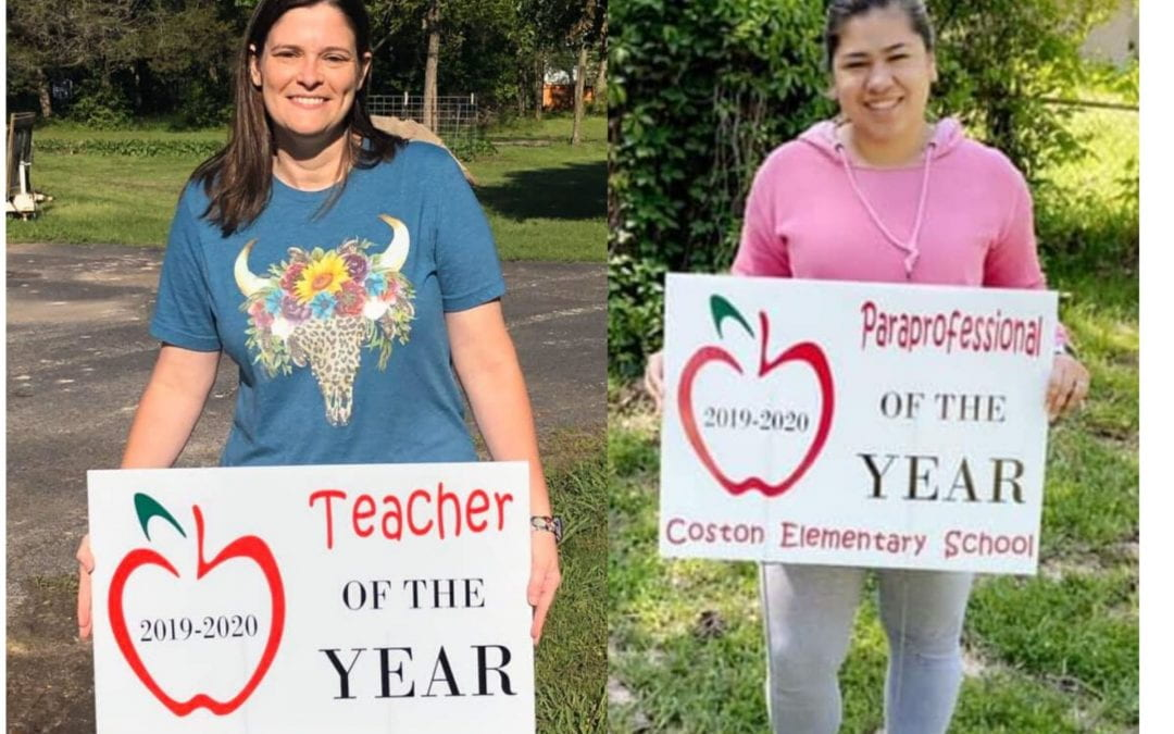 Congratulations to our Teacher and Para of the Year!