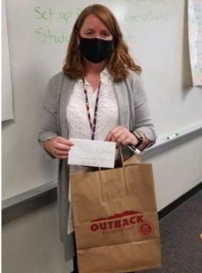Teacher of the month, Mrs. Kier