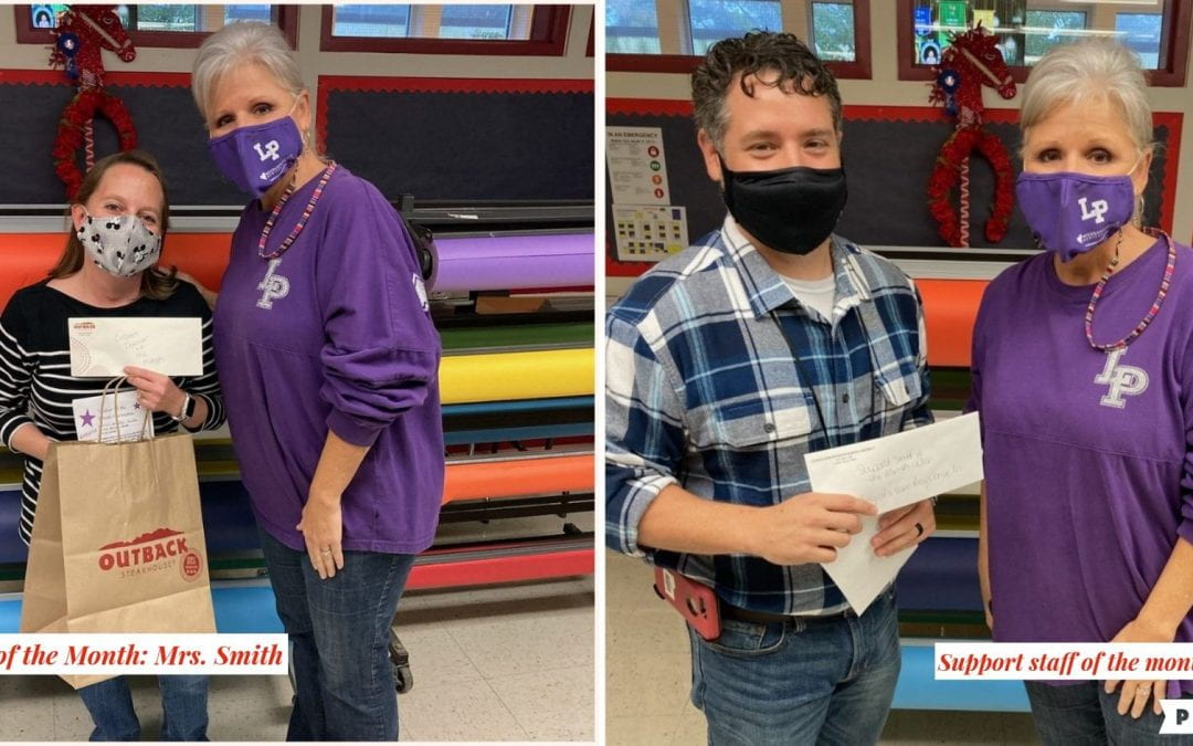 Teacher and support staff of the month- November