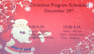 Hackney's Christmas Program