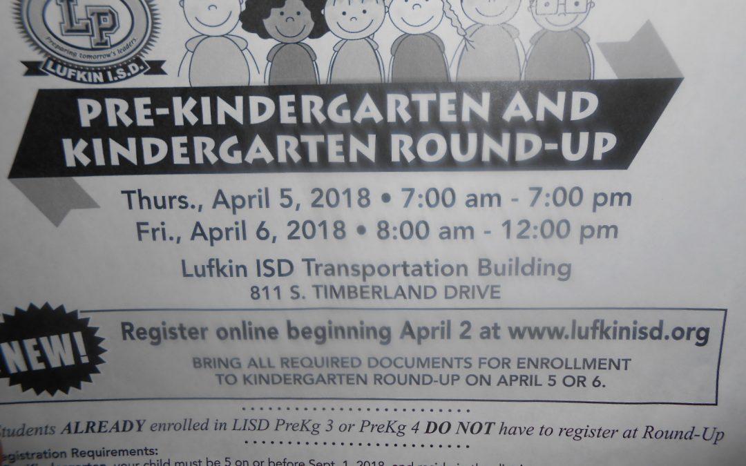 Pre-Kindergarten and Kindergarten Round Up