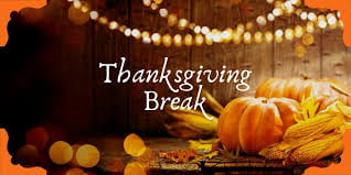 Thanksgiving Holiday Break – November 23- 27, 2020